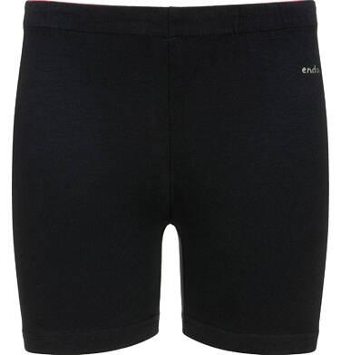Endo - Krótkie legginsy dla dziewczynki, czarne, 9-13 lat D03K507_5
