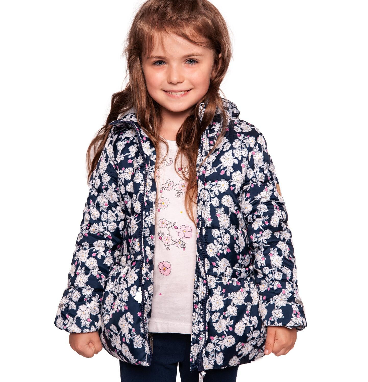 Endo - Zimowa kurtka dla dziewczynki 3-8 lat, deseń w kwiaty, polarowa podszewka i wnętrze kaptura, ciepła D92A012_1
