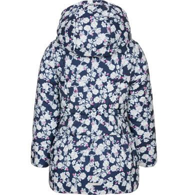 Endo - Zimowa kurtka dla dziewczynki 3-8 lat, deseń w kwiaty, polarowa podszewka i wnętrze kaptura, ciepła D92A012_1,5