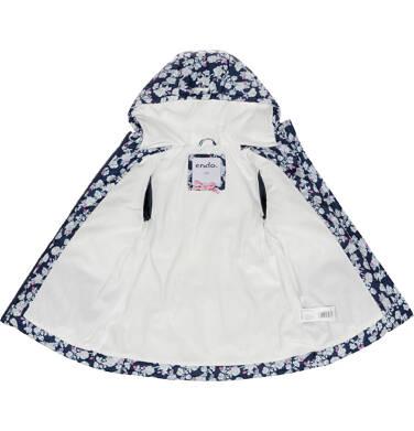 Endo - Zimowa kurtka dla dziewczynki 3-8 lat, deseń w kwiaty, polarowa podszewka i wnętrze kaptura, ciepła D92A012_1,4