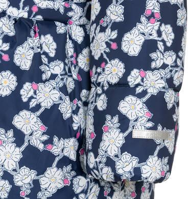 Endo - Zimowa kurtka dla dziewczynki 3-8 lat, deseń w kwiaty, polarowa podszewka i wnętrze kaptura, ciepła D92A012_1,8