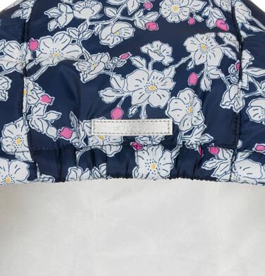 Endo - Zimowa kurtka dla dziewczynki 3-8 lat, deseń w kwiaty, polarowa podszewka i wnętrze kaptura, ciepła D92A012_1,6