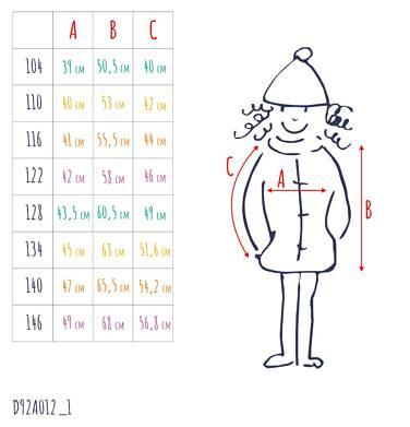 Endo - Zimowa kurtka dla dziewczynki 3-8 lat, deseń w kwiaty, polarowa podszewka i wnętrze kaptura, ciepła D92A012_1,3