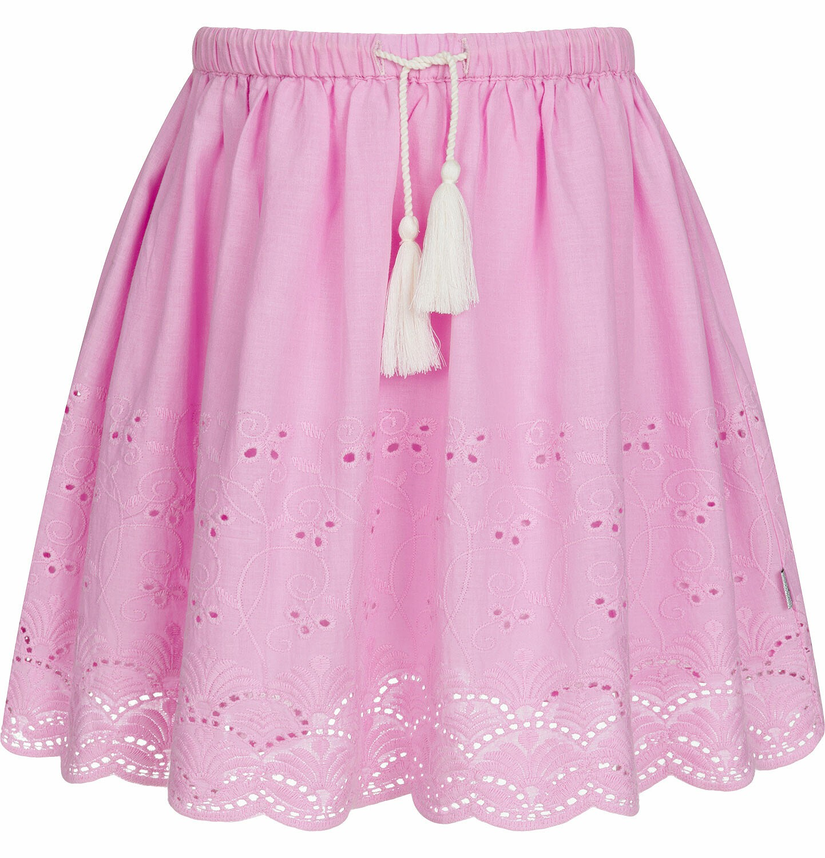Endo - Krótka spódnica z delikatnym haftem, różowa, 9-13 lat D03J512_2