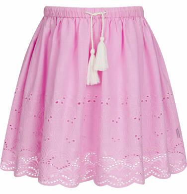 Krótka spódnica z delikatnym haftem, różowa, 9-13 lat D03J512_2