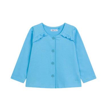 Bluza rozpinana dla dziecka do 2 lat, niebieska N03C006_4