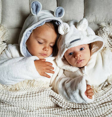Endo - Kurtka polarowa dla małego dziecka, Jestem jak z bajki, porcelanowa, z uszkami i ogonkiem N92A010_1