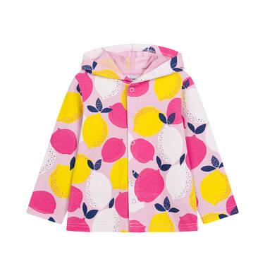 Endo - Bluza rozpinana z kapturem dla dziecka do 2 lat, deseń w cytryny N03C014_1