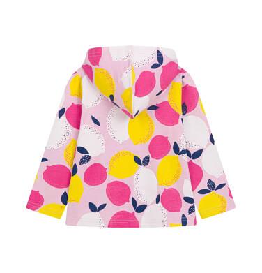 Endo - Bluza rozpinana z kapturem dla dziecka do 2 lat, deseń w cytryny N03C014_1,2