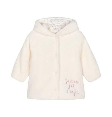 Endo - Kurtka polarowa dla małego dziecka, Jestem jak z bajki, porcelanowa, z uszkami i ogonkiem N92A011_1