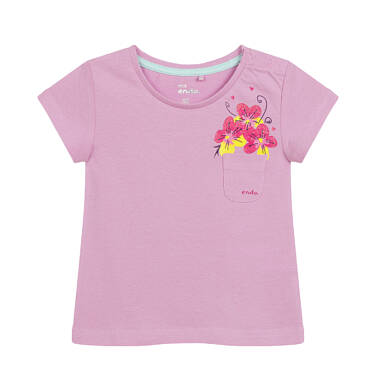 Endo - Bluzka dla dziecka do 2 lat, z kwiatami i kieszonką, różowa N03G040_1