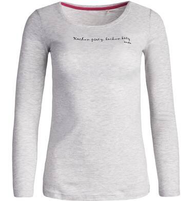 Endo - Lekko taliowana bluzka damska z długim rękawem Y81G003_1