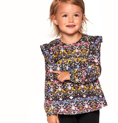 Koszula z długim rękawem dla dziewczynki 3-8 lat D92F004_1