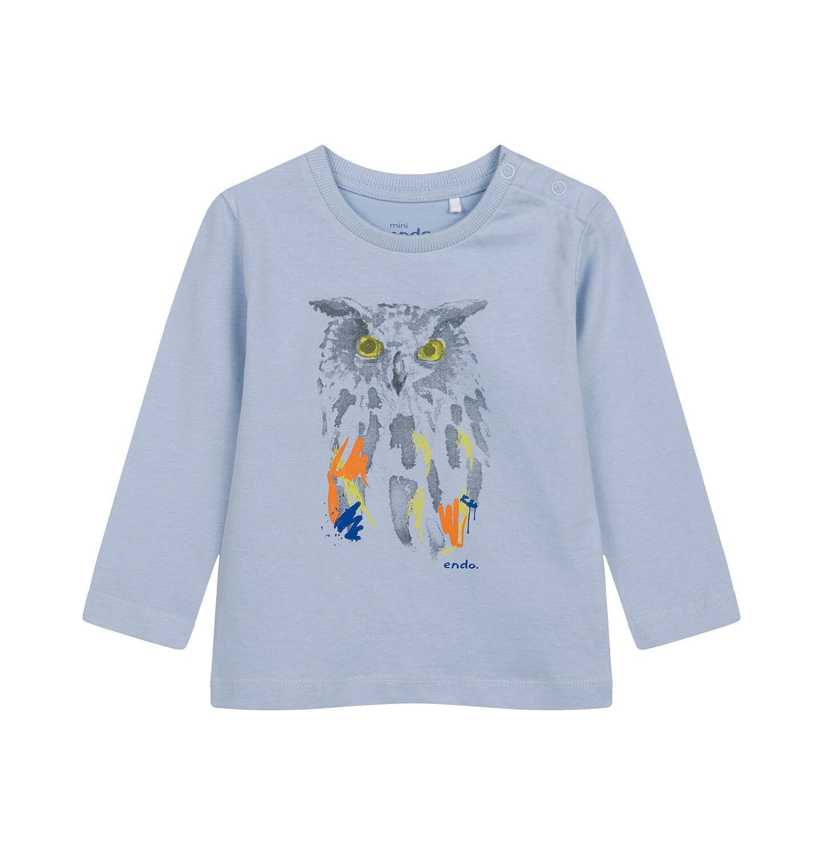 Endo - T-shirt z długim rękawem dla dziecka do 2 lat, z sową N04G010_1