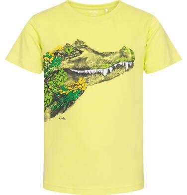 Endo - T-shirt z krótkim rękawem dla chłopca, z krokodylem, zółty, 2-8 lat C06G108_2 111