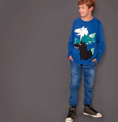 Spodnie jeansowe typu jogger dla chłopca 3-8 lat C91K003_1