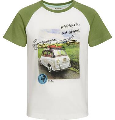 Endo - T-shirt z krótkim rękawem dla chłopca, pasażer na gapę, porcelanowy, 9-13 lat C03G549_1