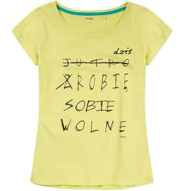 Luźna bluzka damska z krótkim rękawem Y81G008_1