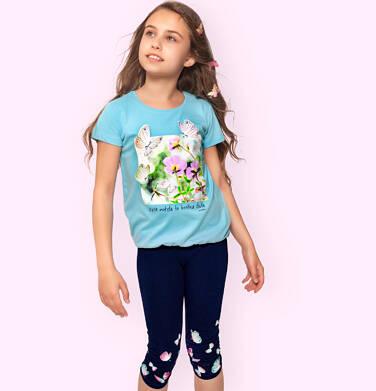 Endo - Legginsy 3/4 dla dziewczynki, w kolorowe motylki, granatowe, 2-8 lat D06K032_1 23