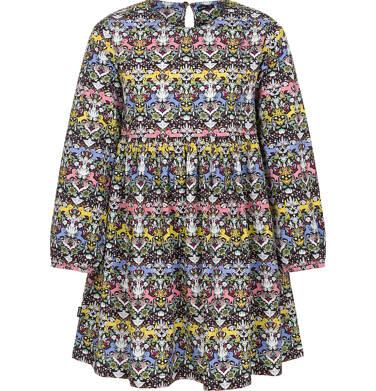 Endo - Sukienka z długim rękawem dla dziewczynki 3-8 lat D92H013_1