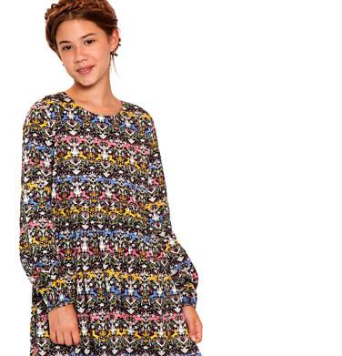 Endo - Sukienka z długim rękawem dla dziewczynki 9-13 lat D92H513_1