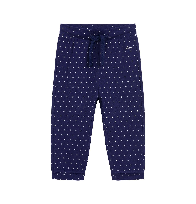 Endo - Spodnie dla dziecka do 2 lat, w kropki, granatowe N03K038_1
