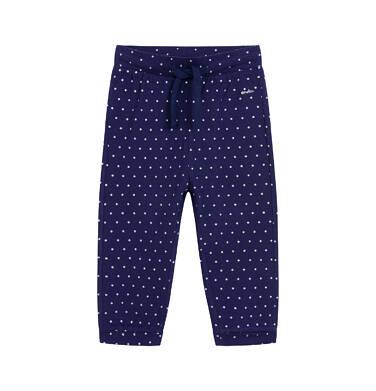 Endo - Spodnie dla dziecka do 2 lat, w kropki, granatowe N03K038_1 1