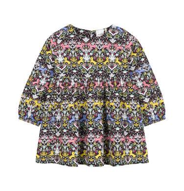 Endo - Sukienka z długim rękawem dla dziecka 0-3 lata N92H011_1