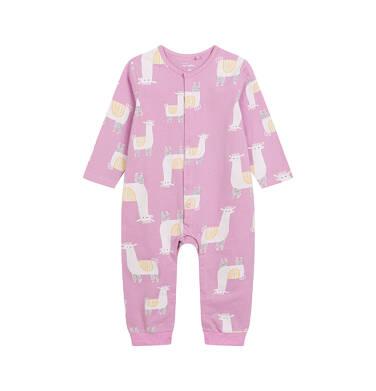 Endo - Pajac dla dziecka do 2 lat, deseń w alpaki, różowy N03N012_1 17