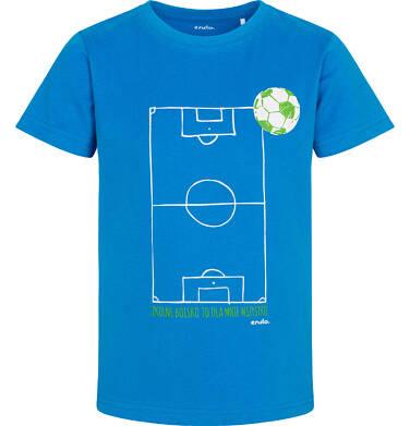 Endo - T-shirt z krótkim rękawem dla chłopca, z boiskiem piłkarskim, niebieski, 2-8 lat C05G054_1 3