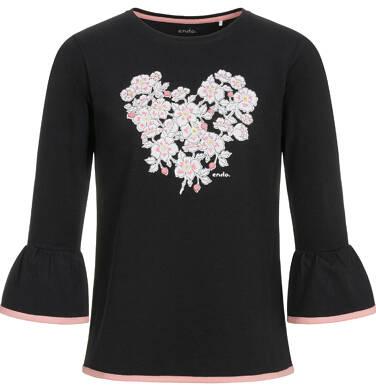 Endo - Bluzka z długim rękawem dla dziewczynki 3-8 lat D92G013_2