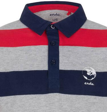 Endo - Koszulka polo z długim rękawem dla chłopca 3-8 lat C91G059_3
