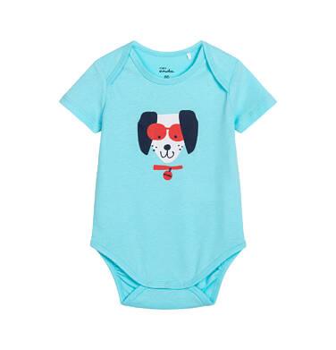 Endo - Body z krótkim rękawem dla dziecka do 2 lat, z pieskiem w okularach N05M031_1 2