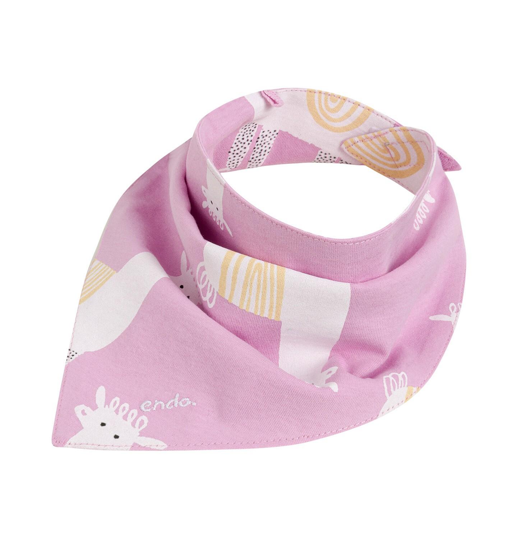 Endo - Chustka wiosenna dla dziecka, deseń w alpaki, różowa N03R019_1