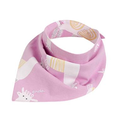 Endo - Chustka wiosenna dla dziecka, deseń w alpaki, różowa N03R019_1 22