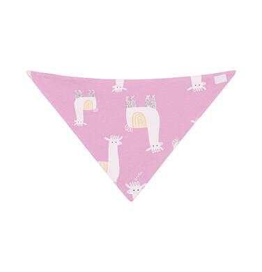 Endo - Chustka wiosenna dla dziecka, deseń w alpaki, różowa N03R019_1,2