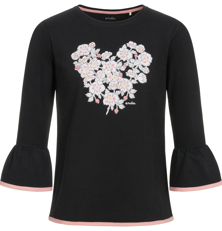 Endo - Bluzka z długim rękawem dla dziewczynki 9-13 lat D92G513_2