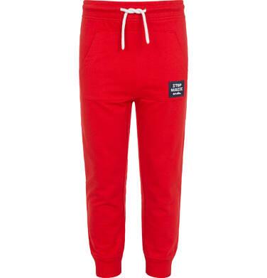 Endo - Spodnie dresowe dla chłopca, z kieszenią kangur i naszywką, czerwone, 2-8 lat C05K022_3 30