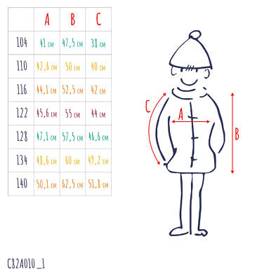 Endo - Nie mam czasu na nudę, Kurtka zimowa dla chłopca 3-8 lat C82A010_1,3