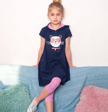 Endo - Legginsy 3/4 dla dziewczynki, różowe, 2-8 lat D03K002_4 11