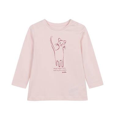 Endo - Bluzka z długim rękawem dla dziecka do 2 lat, z kotem N04G026_1 34