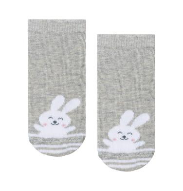 Endo - Szare skarpetki dziecięce z króliczkiem D08P047_1 11