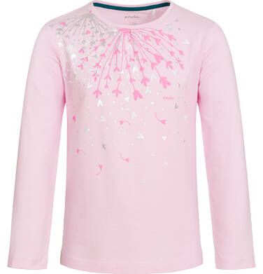 Endo - Bluzka z długim rękawem dla dziewczynki, różowa, 9-13 lat D92G599_1 193