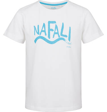 Endo - T-shirt z krótkim rękawem dla chłopca, na fali, biały, 9-13 lat C03G626_1