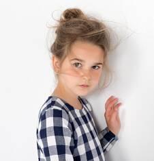 Endo - Romantyczna sukienka w kratkę dla dziewczynki 9-13 lat D72H556_1