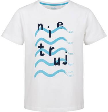 Endo - T-shirt z krótkim rękawem dla chłopca, z morskim motywem, biały, 2-8 lat C03G128_1 19