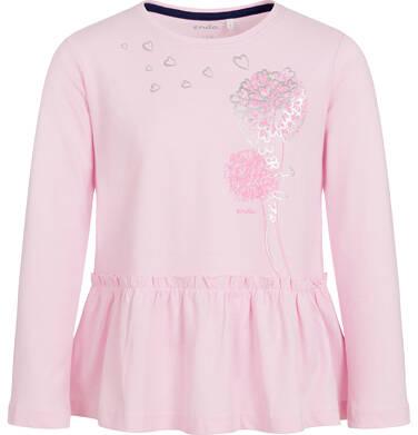 Endo - Bluzka z długim rękawem dla dziewczynki, z falbanką, różowa, 9-13 lat D92G594_1 293