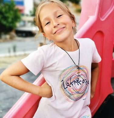 Endo - T-shirt z krótkim rękawem dla dziewczynki, z napisem zakręcona, różowy, 9-13 lat D06G510_1 157