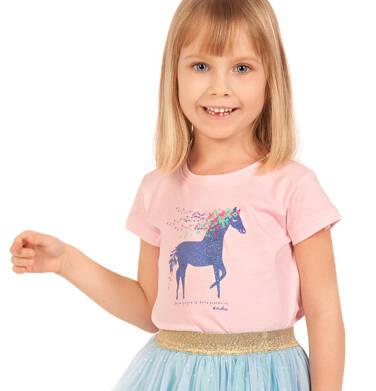 Endo - Bluzka z krótkim rękawem dla dziewczynki, z koniem, różowa, 2-8 lat D03G035_1 293