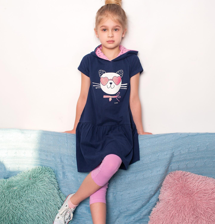 Endo - Legginsy 3/4 dla dziewczynki, różowe, 9-13 lat D03K502_4